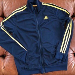 Adidas Full Zip Track Jacket 3 Stripe Youth Large